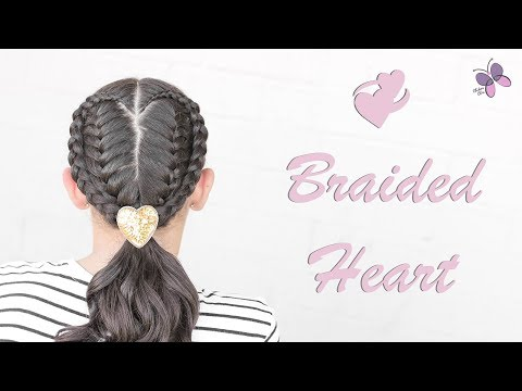 Braid hairstyles - French Braided Heart  Braided hairstyles  Hairstyles for Girls