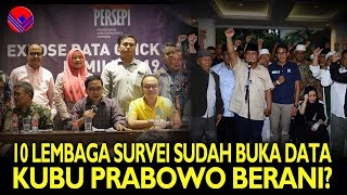 Video 10 Lembaga Survei Sudah Buka Data. Kubu Prabowo Berani? MP3, 3GP, MP4, WEBM, AVI, FLV April 2019