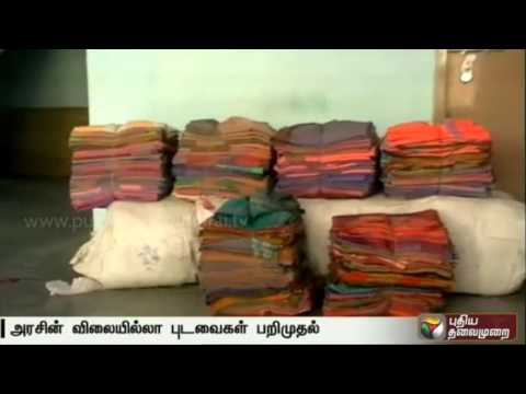 Election-flying-squad-seizes-free-sarees-in-Salem