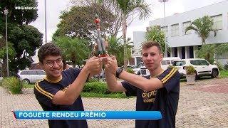 Sorocaba: alunos de uma escola particular bateram o recorde brasileiro de lançamento de foguete