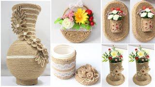 5 Jute craft ideas   Home decorating ideas handmade