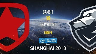 Gambit vs Grayhound - IEM Shanghai 2018 - map1 - de_dust2 [SSW, GodMint]