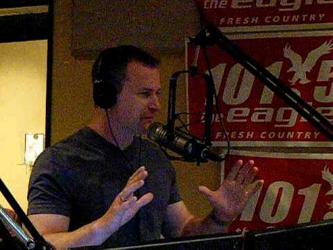 Comedian PJ Walsh on 101.5 The Eagle Studio  April 2010 Video 1