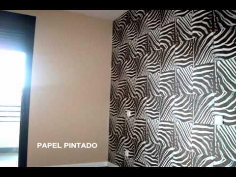 Pinturas decorativas para salones videos videos - Papel pintado para el salon ...