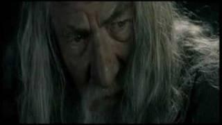 Gandalf rassure, explique, recadre... Aide quoi... Il se battra pour la communauté ensuite, en leader
