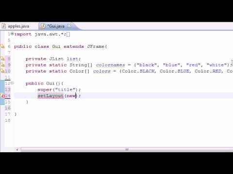 Java Programming Tutorial – 70 – JList