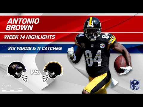 Video: Antonio Brown's 213 Yards & 11 Catches vs. Baltimore! | Ravens vs. Steelers | Wk 14 Player HLs