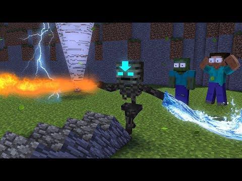 Monster School : Elements Bending - Minecraft Animation