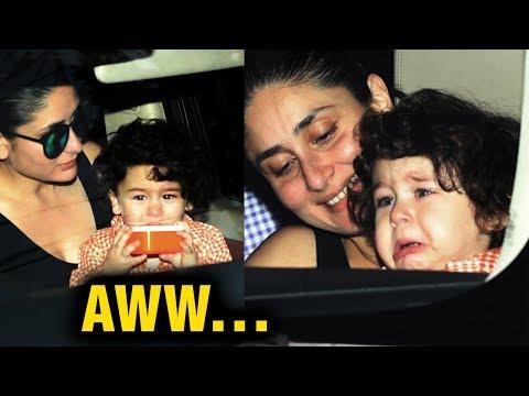 Taimur Ali Khan CRYING In Kareena Kapoor Khan's Ar