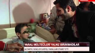 adana akparti seyhan gençlik kollari numune hastanesi yarali suriyelileri ziyaret