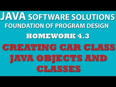 Java: Creating Car Class (Ex 4-3) – Java OOP, Objects, Classes, Setters, Getters