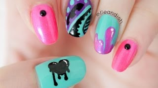 Graffiti Nails - YouTube