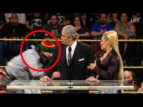 Crazy 'Fan' ATTACKS Bret Hart During WWE Hall of Fame 2019 Speech!