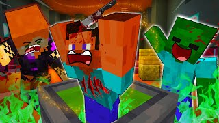 STEVE And ALEX Gets EATEN By EVIL WITCH - MINECRAFT STEVE AND ALEX [260]