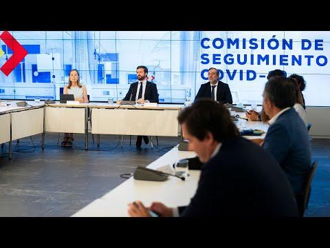 Pablo Casado interviene en la reunión de la Comisión de Seguimiento del COVID-19