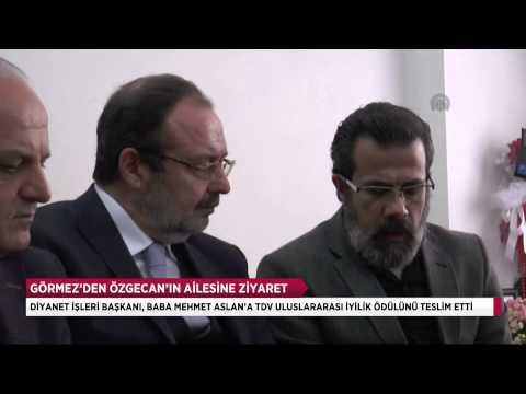 Prf.Dr.Mehmet Görmez,Özgecan'ın ailesini ziyaret etti.