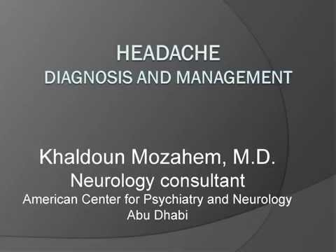 Headache Diagnosis and Management