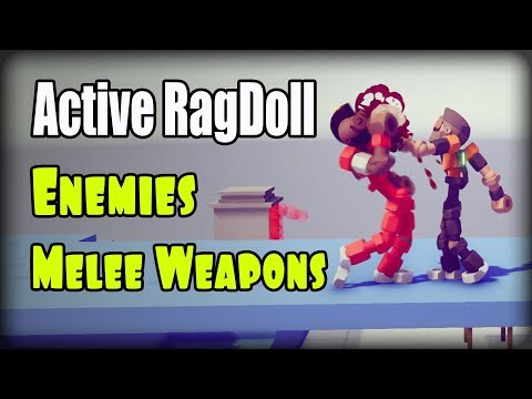 Active ragdoll in Unity (Unity3D), Enemies, Melee Weapons видео