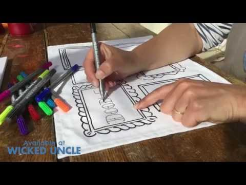 Youtube Video for Doodle PLACEMATS - Draw & Wash Out