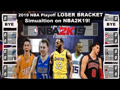 Putting the TEAMS that DIDN'T MAKE the 2019 NBA playoffs in THE PLAYOFFS Simulation on NBA2K!
