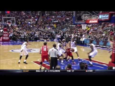 Omri Casspi - Lay Up from Jeremy Lin vs Sixers