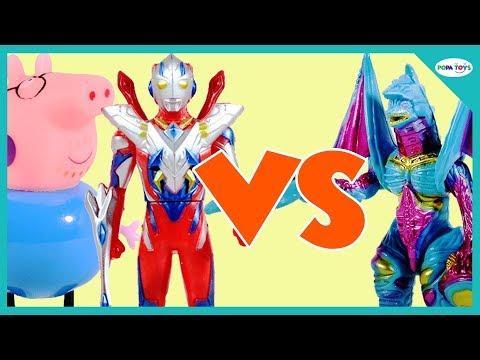 Ultraman Protects Peppa Pig From Godzilla  - Peppa Pig Beautiful Background
