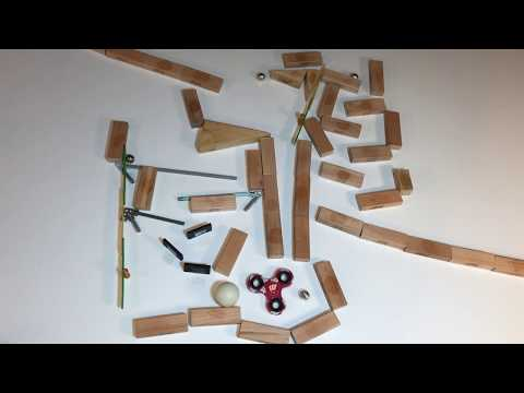 "Chain reaction marble run synchronized to Tchaikovsky's ""Waltz of the Flowers"""