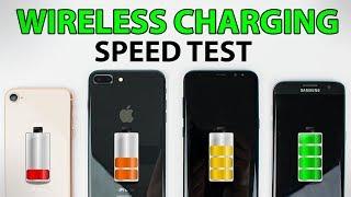 iPhone 8 vs iPhone 8 Plus vs Galaxy S8 vs Galaxy S7 Edge - WIRELESS CHARGING SPEED TEST