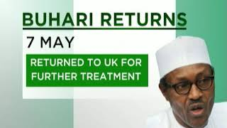 President Buhari Returns From the UK