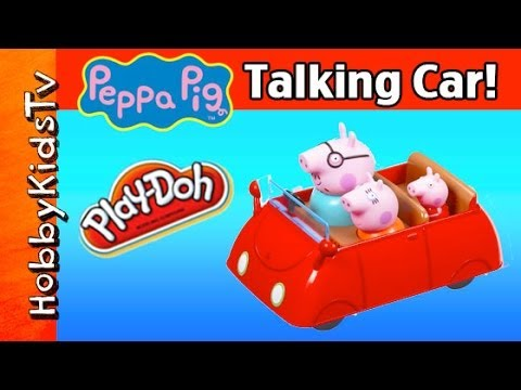 open - HobbyKidsTV shows off the cool features of Peppa Pig's car. A Play-Doh mud puddle doesn't stop them driving. Daddy Pig, Mummy Pig, Peppa Pig, and George Pig ...