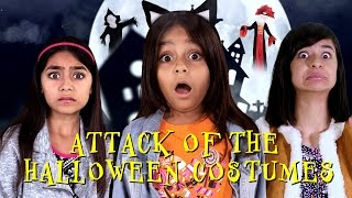 Attack Of The Halloween Costumes - Movie Trailer Parody : SKETCH COMEDY // GEM Sisters