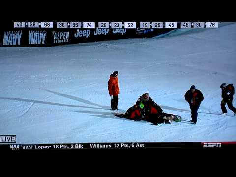 Halldor Helgason - Snowboard Big Air Contest Crash.