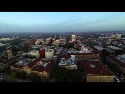 USC Campus at Dawn: An Aerial View