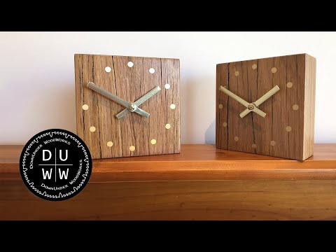 How To Make A Reclaimed Hardwood Clock