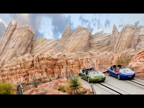 [HD] Radiator Springs Racers - Slot Car Attraction Wide Angle POV: Disney California Adventure