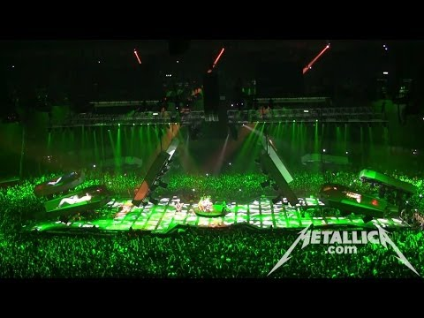 MetallicaTV - Footage of the band playing Of Wolf And Man in the Tuning Room (0:12) and Cyanide from the show (6:10).