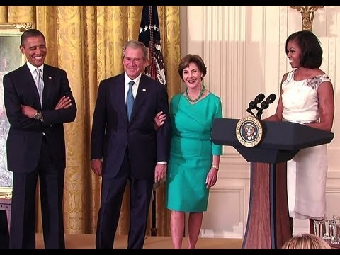 VIDEO: Bush directs Obama to ask 'what would George do?'