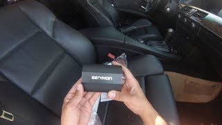 How to install the dension gateway 500s BT, very easy and awesome product. allows direct connection to your iphone ipod from Idrive, in the video i am using it with an iphone 5 should be the same as iphone 5s 5c and with a spec dock with an 30 pin to lightning adapter but works with iphone 4 4s as well. car will need to be coded for CD changer, my car was pre-wired, but Dension supplies the necessary fiber optic cables for you to use to hook up if yours did not come pre-wired.visit dension www.dension.com for more product info and purchase (i am not affiliated or work for this company.)