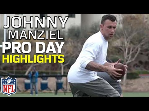 Johnny Manziel's Pro Day Highlights from University of San Diego | NFL (видео)