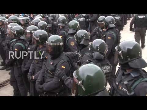 Spain: Police storms into polling station as govt. tightens grip on Catalan vote
