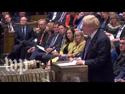 British Parliament debates Brexit as Johnson tries to secure December election