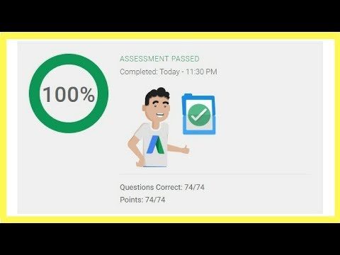 Google AdWords Video Certification Advertising Assessment Exam Answers✅Live Pass✅2018✅100% Correct✅