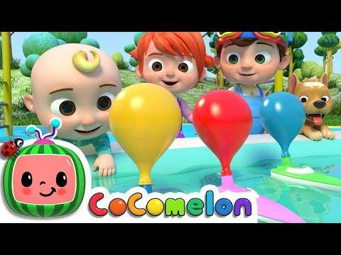 Balloon Boat Race   CoComelon Nursery Rhymes & Kids Songs
