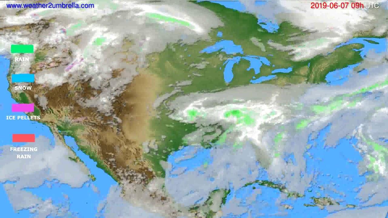 Precipitation forecast USA & Canada // modelrun: 12h UTC 2019-06-05