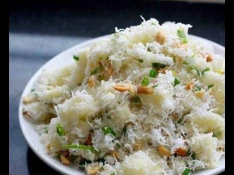 Thêm một cách làm món ăn vặt ngày lạnh với món sắn trộn dừa