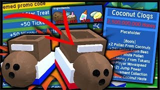 *New* Coconut Clogs Best Boots & Biggest Code In Bee Swarm | Roblox Bee Swarm Simulator