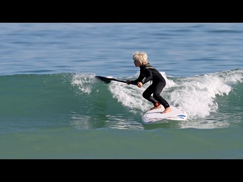 Insane Clip Of 8YO  NateV SUP Surfing Paddle Boarding With Dolphins