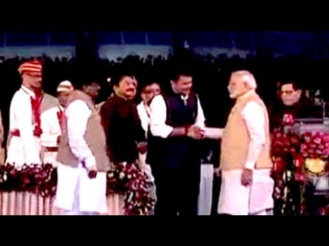 Government - Devendra Fadnavis has been sworn in as the BJP's first Maharashtra chief minister, the state's 27th. A small group of ministers is now being sworn in at Mumbai's Wankhede stadium, which is...