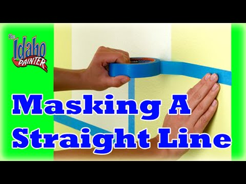 idaho painters - How to mask a straight line on your trim prior to painting your walls. Make you cut-in lines look like a professional did them. B&K Painting is a full servic...