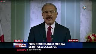 Discurso Presidente Danilo Medina no buscará modificar la Constitución para reelegirse